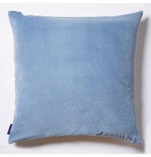 Housse de coussin en velours bleu clair