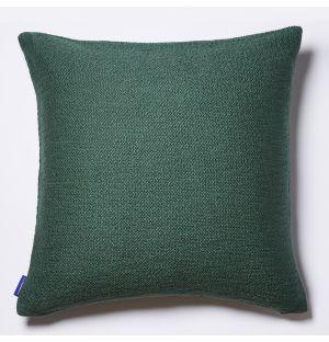 Housse de coussin en coton flammé vert - 50 x 50 cm