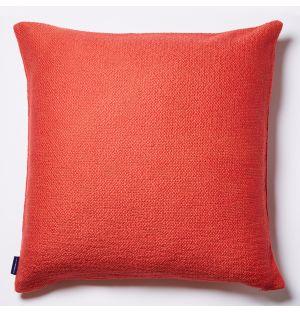 Housse de coussin en coton flammé orangé - 50 x 50 cm