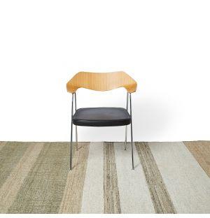Tapis en jute et coton naturel - 170 x 240 cm
