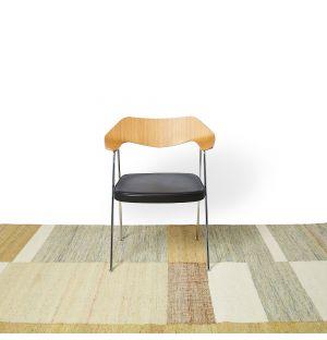Tapis en jute et coton beige - 170 x 240 cm