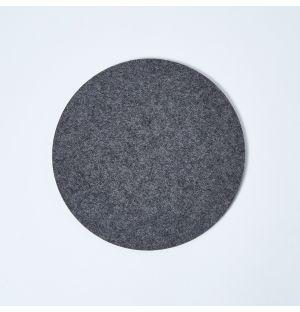 Dessous de plat en feutre gris anthracite