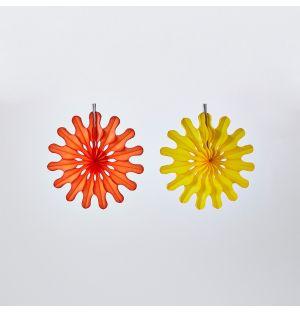 Ensemble de 2 rosace en papier jaune et orange