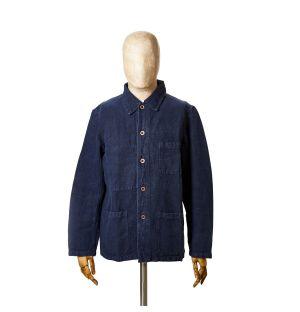 Men's 5C Workwear Jacket in Navy Linen