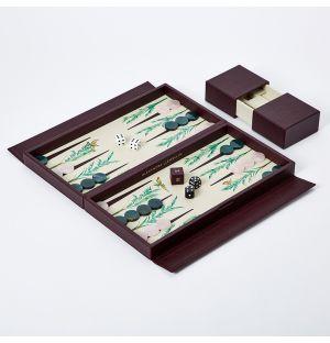Jeu de backgammon Signature Palmier