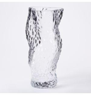 Vase en verre transparent Ostrea