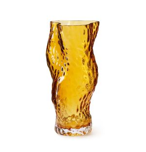 Vase Ostrea en verre ambre - Medium