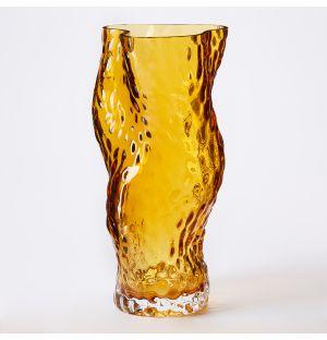 Vase en verre ambre Ostrea - Medium