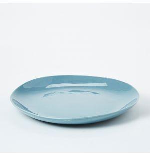 Assiette bleu ciel Pintura