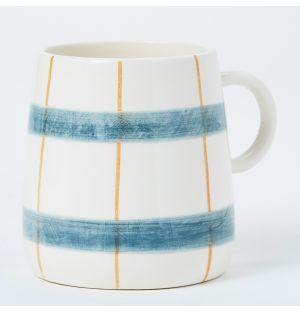 Mug bleu et jaune moutarde Pintura