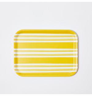 Plateau à rayures jaunes - Medium