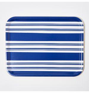 Plateau à rayures bleues - Medium