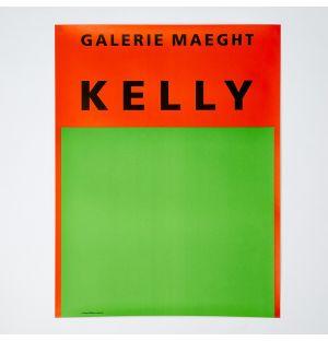 Affiche « Orange et vert » Ellsworth Kelly