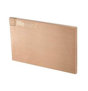 Batterie externe LifeCard Gold Rose