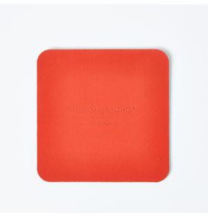 Dessous de verre carré orange Cuero