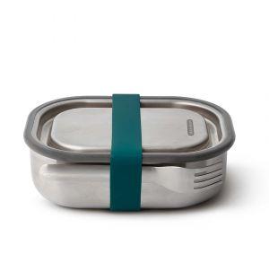 Lunch box bleue en acier inoxydable – Large