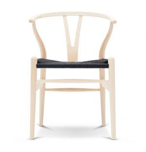 Chaise Wishbone CH24 - frêne blanc huilé et corde naturelle