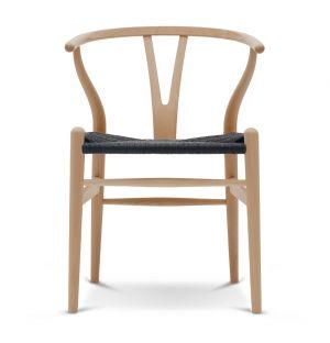 Chaise Wishbone CH24 - bouleau huilé et corde naturelle