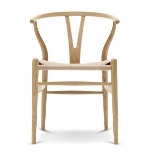 Chaise Wishbone CH24 - chêne laqué et corde naturelle