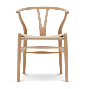 Chaise Wishbone CH24 - Hêtre laqué et corde naturelle