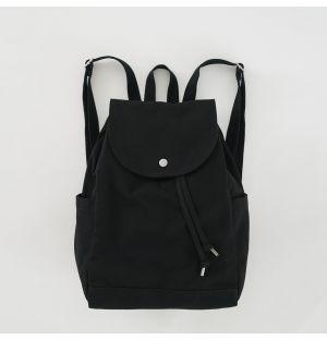 Sac à dos noir en toile de coton recyclée