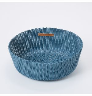 Panier en plastique recyclé bleu - Small