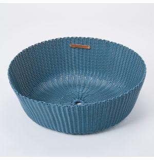 Panier en plastique recyclé bleu - Large