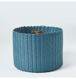 Panier en plastique recyclé bleu – Medium
