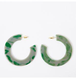 Boucles d'oreilles June vertes