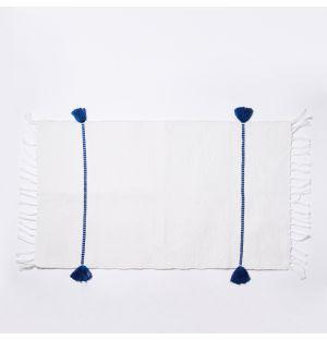 Tapis de bain bleu Sadek