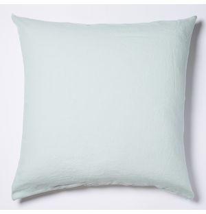Housse de coussin en lin menthe - 65 x 65 cm