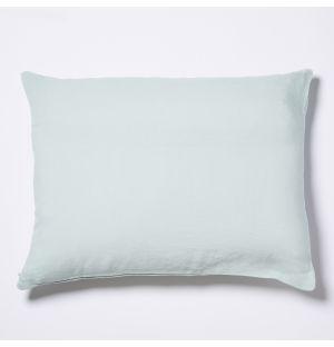 Housse de coussin en lin menthe - 50 x 40 cm