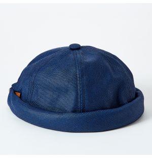 Bonnet miki en jean bleu marine
