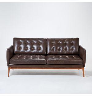 Canapé en cuir Romagna Elgin - 3 places - ancien modèle d'exposition