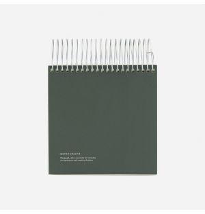 Bloc-notes vert à spirales Monograph