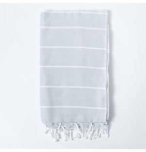 Foutas grise & blanche - 170x100cm