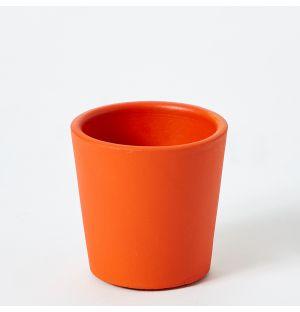 Cache-pot en céramique orange Pedregal - Small