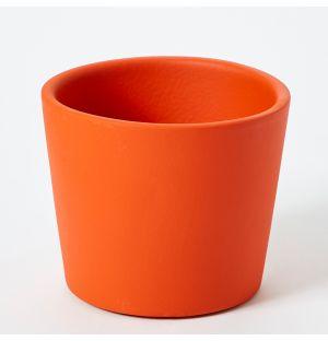 Cache-pot en céramique orange Pedregal - Medium