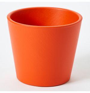 Cache-pot en céramique orange Pedregal - Large