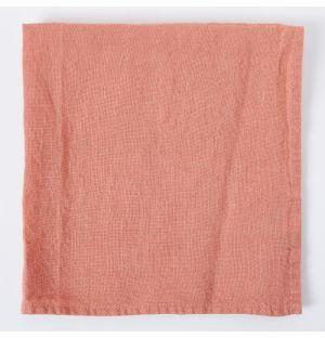 Serviette de table en lin – argile – 47 x 47 cm