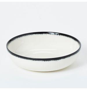 Bol blanc cassé et noir - 15,5 cm