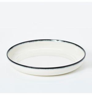 Bol blanc cassé et noir - 27 cm