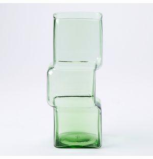 Vase vert Cube