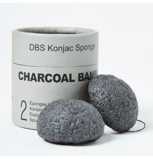 Éponge konjac pour le visage au charbon de bambou
