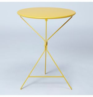 Table pliante jaune Bistro 402