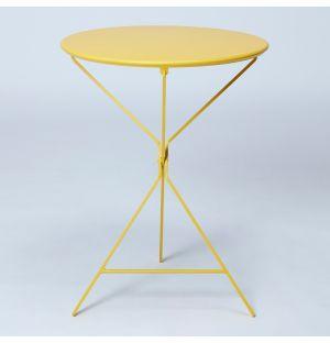Table pliante jaune Bistro 402
