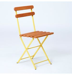 Chaise pliante jaune 403