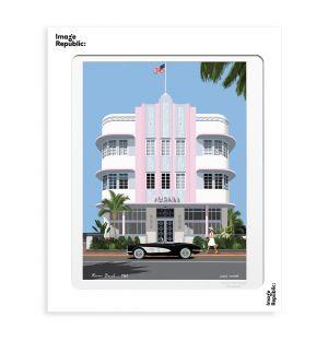 Affiche «Miami » par Paulo Mariotti - 40 x 50 cm