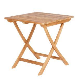 Table bistrot d'extérieur pliante en teck