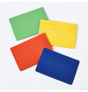 Porte-cartes en cuir recyclé